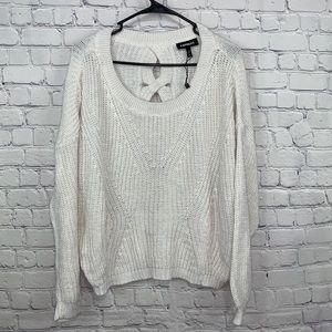 Express Open Back Knit Sweater